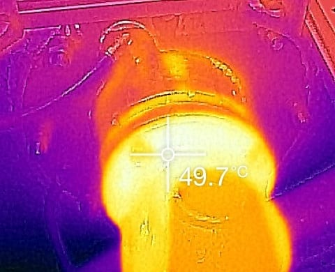 Thermographic IR yacht
