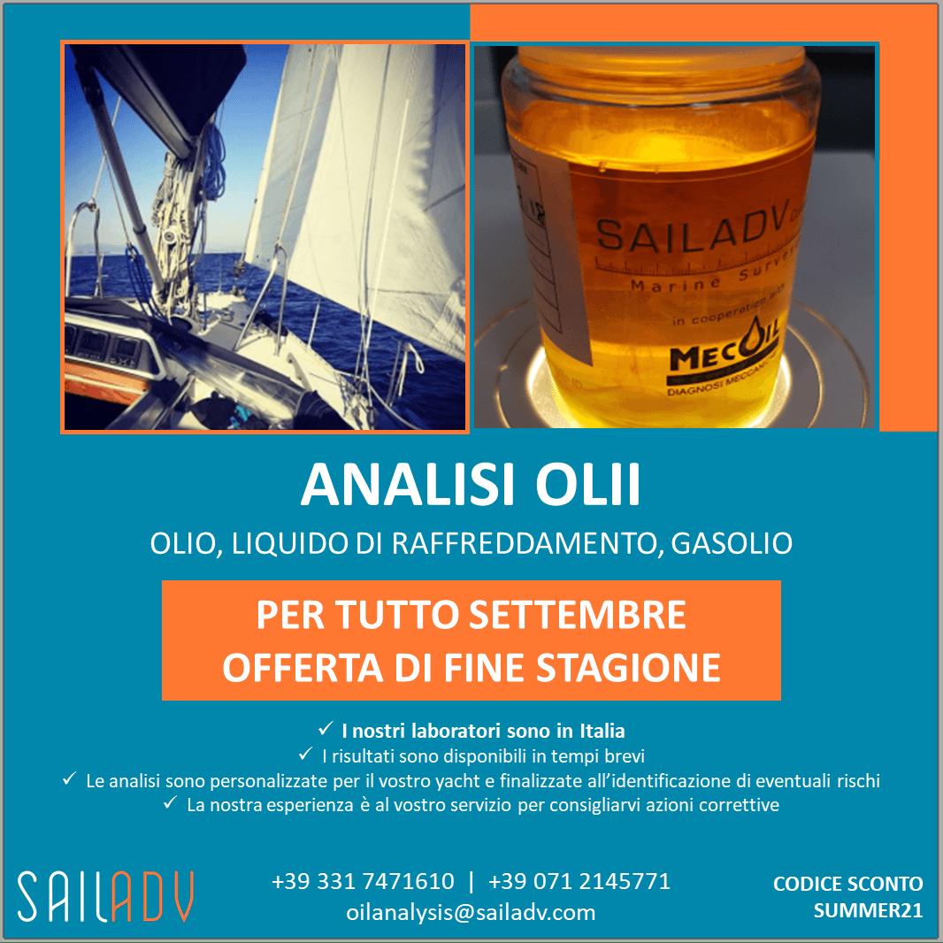 analisi olii imbarcazione sailadv